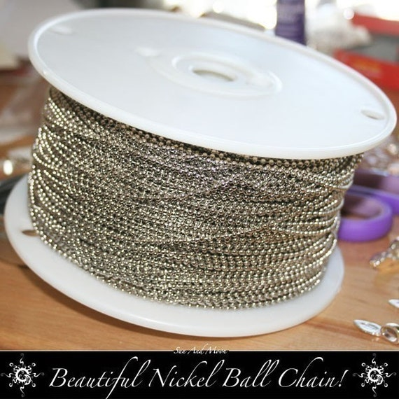 100 Nickel Plated Ball Chain Necklaces - 2.4mm - BCNN