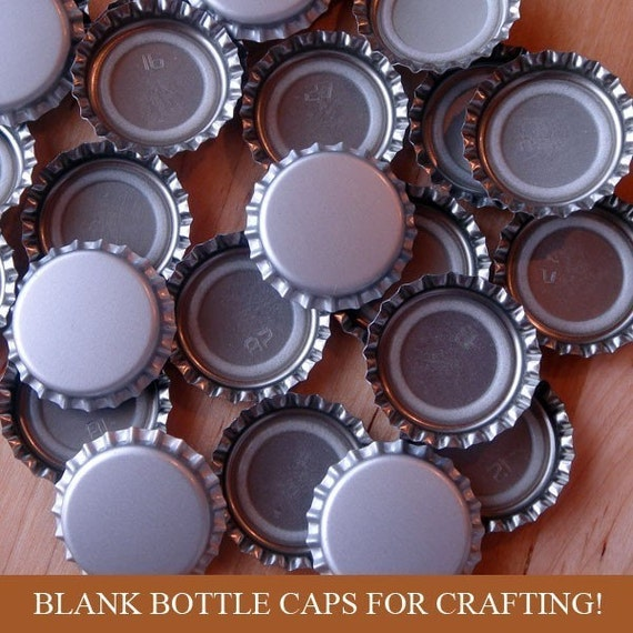50 Blank Bottle Caps - New Never Used - Silver