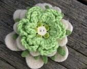 Petite Felt Flower Brooch - Meadow