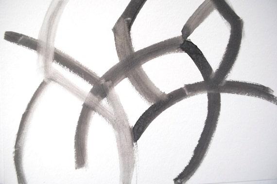 graphic watercolor in grey