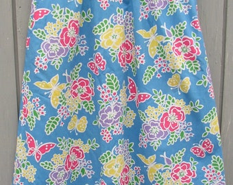 FLORAL SKIRT, VINTAGE, very pretty, floral...great colors,