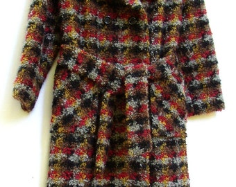 WOOLY MAMMOTH COAT, Vintage, Gorgeous, Great Style, tie belt, trench coat