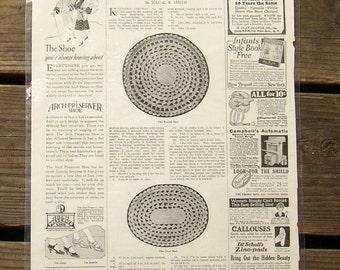 Fun Vintage 1927 NEEDLECRAFT MAGAZINE PAGE, ads, crafts, laminated, placemat