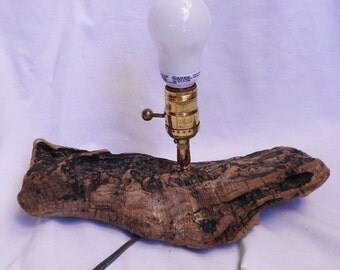 NATURAL DRIFTWOOD LAMP, beach decor, hand made, ooak, vintage wood, primitive home decor