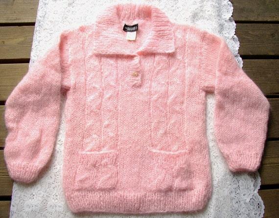 VINTAGE MOHAIR SWEATER, Pink, Wool, Nordstrom,