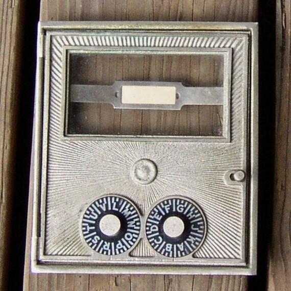 Vintage PO Box DOOR, metal, numbers, glass, collectible