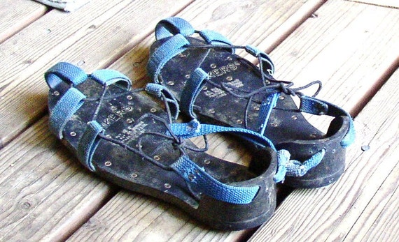 Korkers Roofing Shoes Vintage Lace Up Cleats Rubber Spike