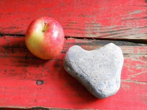OOAK HEART ROCK, beach find, pacific weathered, supply, decor, collectible, rustic patina