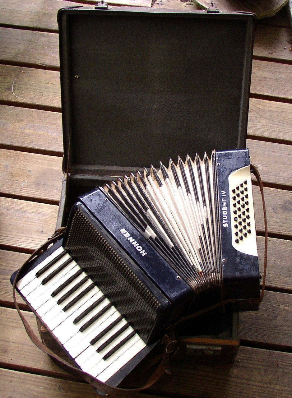 Vintage Hohner Student Accordion German Made Case Fun And