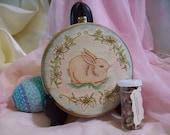 Made to order Bunny and Lily Ostara Spring Equinox Altar Tile/Home Decor