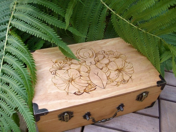 Made to Order Goddess Standing Among the Flowers Wood Altar Box Small