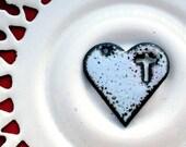 Cross My Heart Enameled Steel Pendant