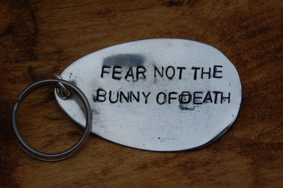 fear not the bunny of death key ring