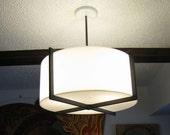 Vintage modernist Habitat streamlined ceiling lamp light 70s