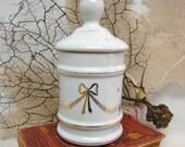 Vintage Apothecary Porcelain Jar