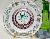 Poison Plate Victorian Dark Valentine Skull and Cross Bones Chase and Scout Altered wall plate