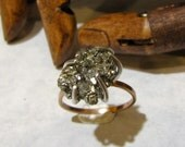 Rough Pyrite Nugget Ring