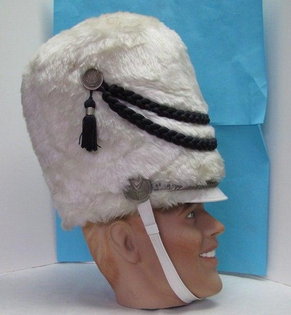 031bf1b873e Sparkle Drum Major Bandsman Drum Major Hat  Vintage Band Uniform Drum Major  Helmet Faux By