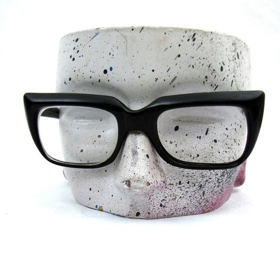 Vintage 60s Nerdy Black Glasses by American Optical Buddy Holly Chunky Frames
