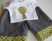 Tree Onesie and Pants Set - 9 months