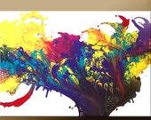"Abstract Modern Art Painting -36"" Original Contemporary Art by Destiny Womack - dWo - Pure Joy - SUPER SALE"