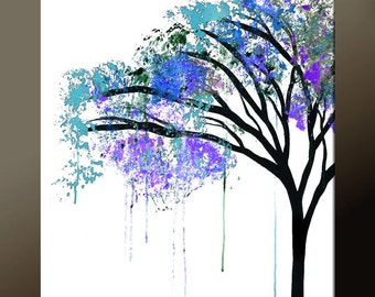 Abstract Landscape Art Print 11x14 Contemporary Wall Art by Destiny Womack -  dWo - The Weeping Tree