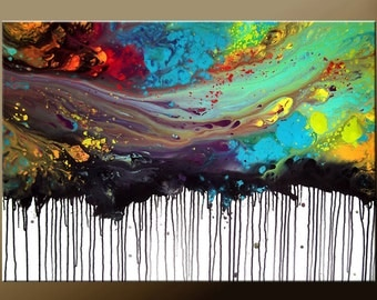 ABSTRACT Modern Art Painting - Original Custom Made to Order Modern Contemporary Fine Art Painting by Destiny Womack - dWo -36x24