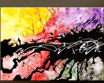 Abstract Modern Art Painting 36x24 Original Contemporary Art by Destiny Womack - dWo - The Untamed ON SALE