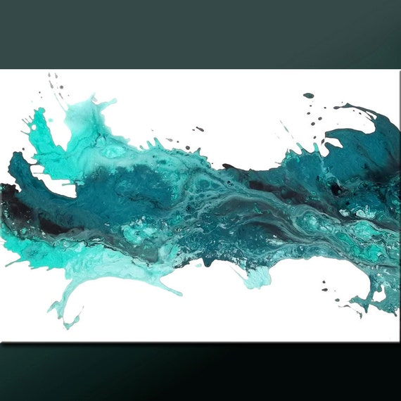 Abstract Modern Art Painting -36x24 Original Contemporary Art on Canvas by Destiny Womack - dWo - Echoes