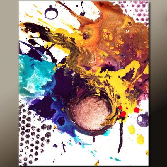 Abstract Art Print 11x14 Contemporary Rainbow Wall Art Prints by Destiny Womack  - dWo - Theory