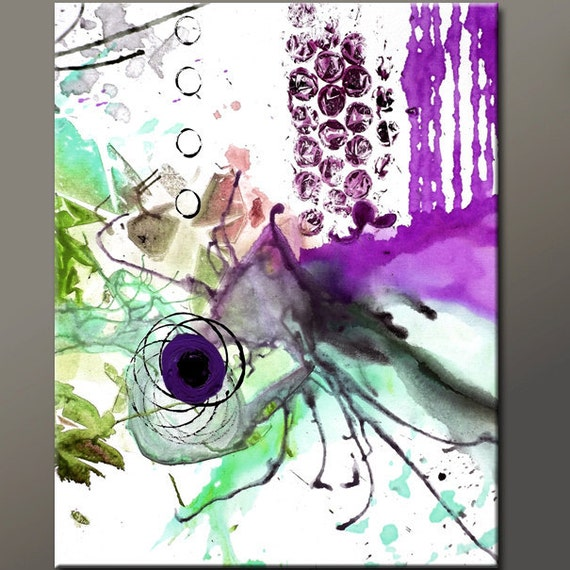 Abstract  Art Print 11x14 Contemporary Modern Art by Destiny Womack -  dWo - Whirlwind