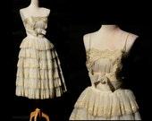 RESERVED vintage sheer dress