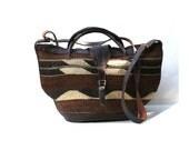 RESERVED vintage straw woven handbag