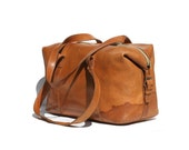 Vintage His or Hers Thick Leather Weekend Bag