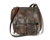 Vintage Brown Leather Strap bag