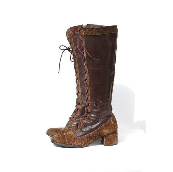 vintage brown boots sz 6 5