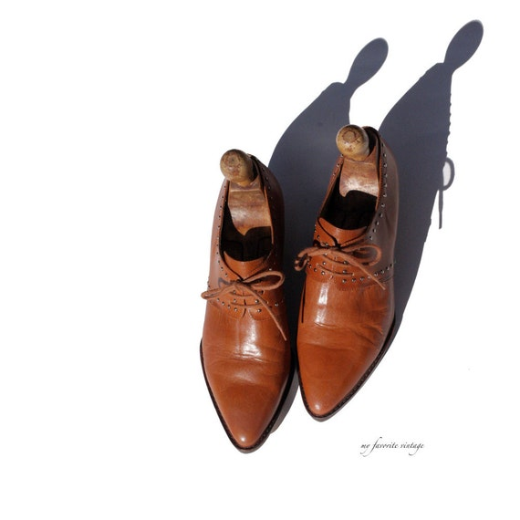 size 7 mocha brown leather loafers
