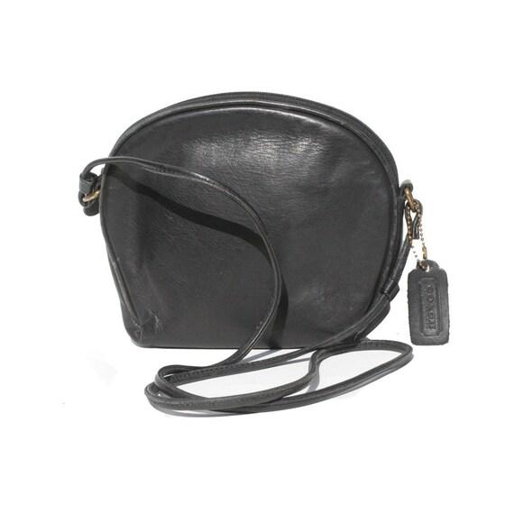 Coach Black Leather Shoulder or Cross Over Bag