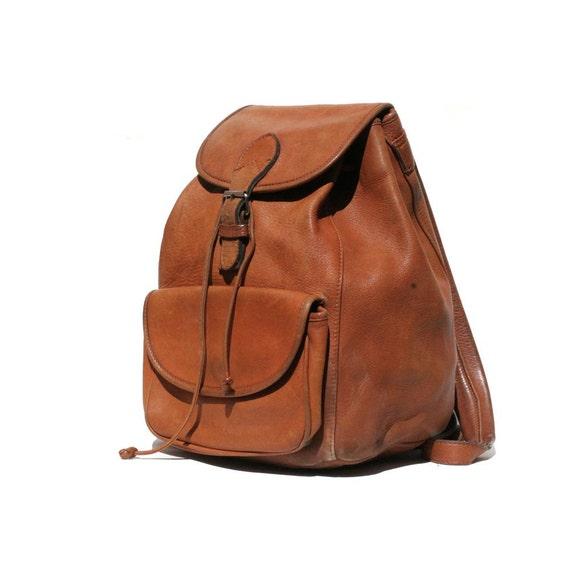 Soft Rugged Leather Backpack