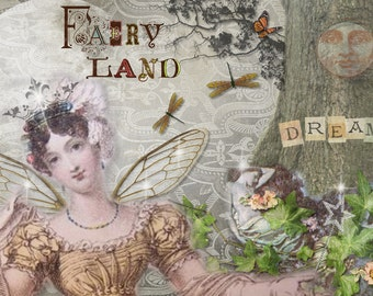 Fairy Card Woodland Fantasy Card, Fairies Card, Fantasy Greeting Card by Dorothy Jane