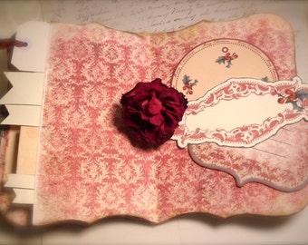 Christmas Scrapbook Journal, Handmade Memory Keepsake,  Recipe Cards, Holiday Memories Book, Grandma  Travel Journal, Recipe Book