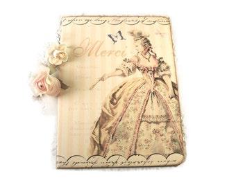 Marie Antoinette Note Cards, Paris Pink Style Thank You Cards ,Flea Market Chic, Paris Note Cards, Bridal Shower Note Card, Paris Theme