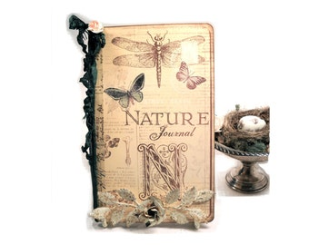 Nature Travel Journal and Diary, Butterfly Journal, Nest Journal, Bird Watcher's Journal. Art Dragonfly Book, Bird Nests Gifts For Her
