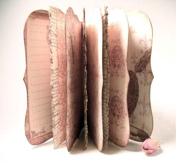 Shakespeare Journal, Valentines Day  Scrapbook Diary, Handmade Art Journal, Medieval Queen, Goth Princess Journal and Notebook