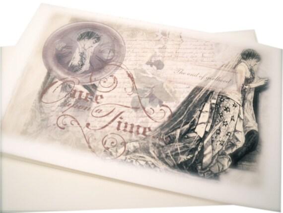 Victorian Wedding Card, Edwardian Beautiful Bride, Wedding Gift Card