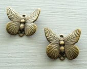 Antiqued Brass Butterfly Connector 12x16mm 2pk