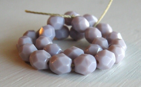 25 Opaque Lavender 6mm Rounds - Czech Glass Beads