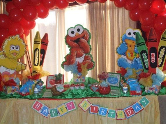 Items similar to Baby Sesame Street Birthday Party ...