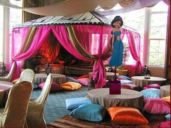 Princess Jasmine Aladdin Birthday Party Centerpiece Mitzvah Baby