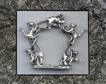 Cat Napkin Rings Set of 4